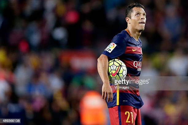 Adriano Correia Claro of FC Barcelona during the Primera Division match between FC Barcelona and Levante UD on September 20 2015 at Camp Nou stadium...