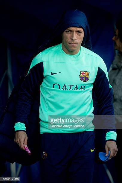Adriano Correia Claro of FC Barcelona walks to the bench prior to start the La Liga match between Getafe CF and FC Barcelona at Coliseum Alfonso...