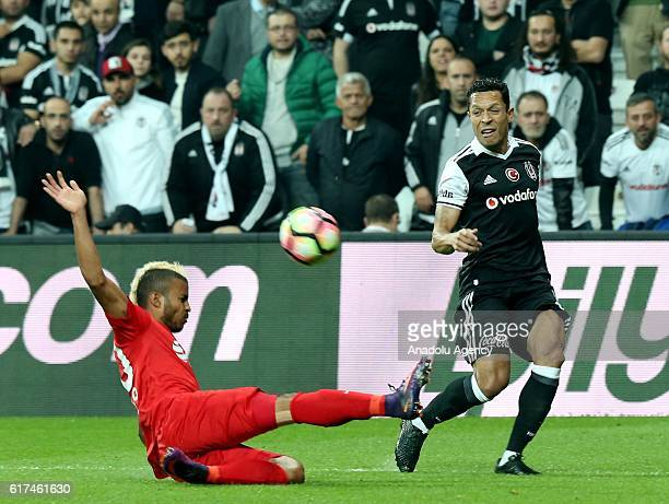 Adriano Correia of Besiktas in action during the Turkish Spor Toto Super Lig match between Besiktas and Antalyaspor at the Vodafone Arena in Istanbul...