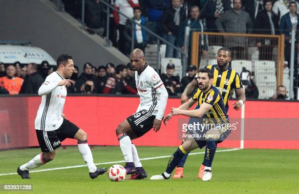 Adriano Correia of Besiktas in action during the Ziraat Turkish Cup soccer match between Besiktas and Fenerbahce at Vodafone Arena in Istanbul Turkey...