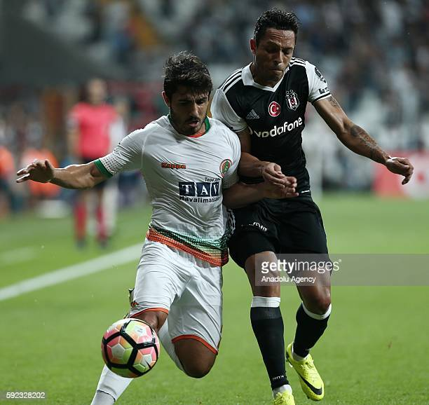 Adriano Correia of Besiktas in action during Turkish Spor Toto Super Lig football match between Besiktas and Alanyaspor at Vodafone Arena in Istanbul...