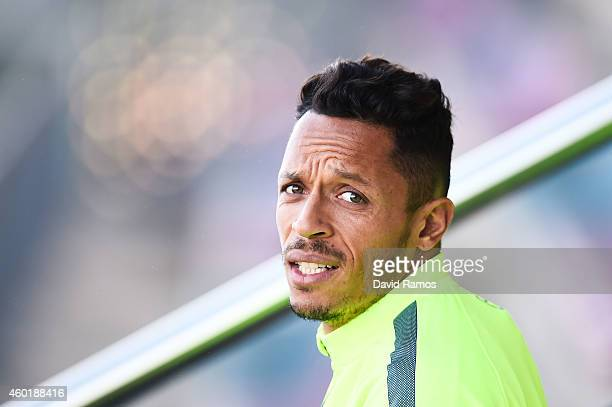 Adriano Correia of FC Barcelona looks on during a training session ahead of their UEFA Champions League Group F match against Paris SaintGermain FC...