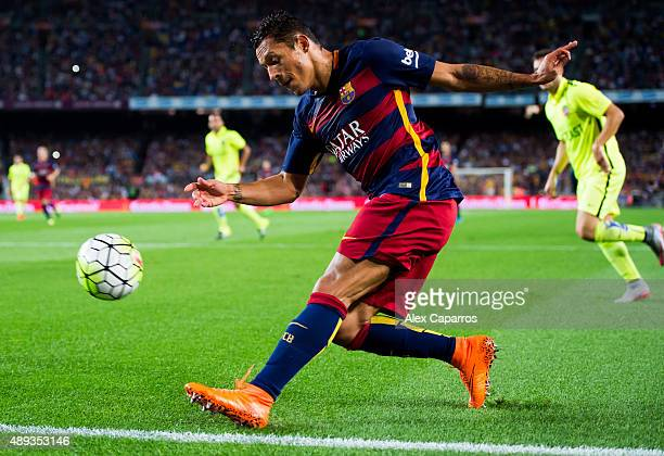 Adriano Correia of FC Barcelona makes a pass during the La Liga match between FC Barcelona and Levante UD at Camp Nou on September 20 2015 in...