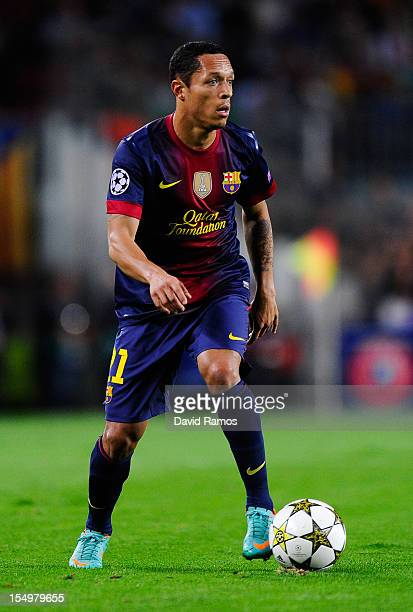 Adriano Correia of FC Barcelona runs with the ball during the UEFA Champions League Group G match between FC Barcelona and Celtic FC at the Camp Nou...