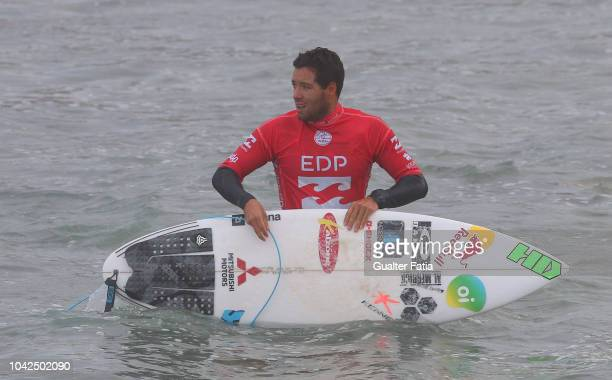 Adriano de Souza from Brazil during heat 10 of round 3 of the WQS EDP Billabong Pro Ericeira of Surfing at Riberira D'Ilhas beach on September 28...