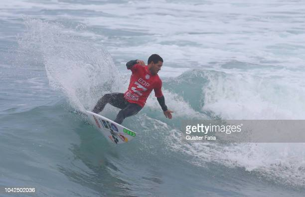 Adriano de Souza from Brazil in action during heat 10 of round 3 of the WQS EDP Billabong Pro Ericeira of Surfing at Riberira D'Ilhas beach on...