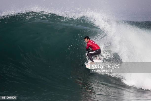 Adriano de Souza from Brazil performs during the Quicksilver Pro France surf competition on October 13 2017 in Hossegor France The French stage of...