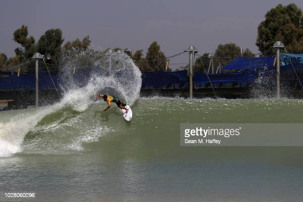 Adriano de Souza of Brazil competes during the men's qualifying round of the World Surf League Surf Ranch Pro on September 6 2018 in Lemoore...