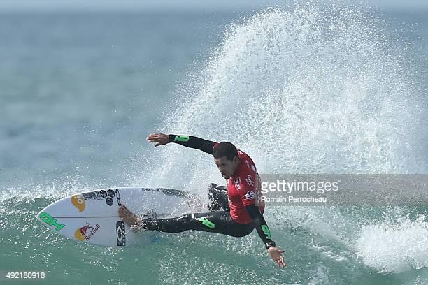 Adriano de Souza of Brazil surfs into round 3 of Quiksilver Pro on October 10 2015 in Hossegor France