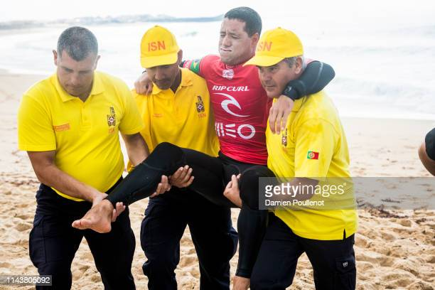 Adriano De Souza was injured during Heat 7 of Round 2 of the MEO Rip Curl Pro 2018