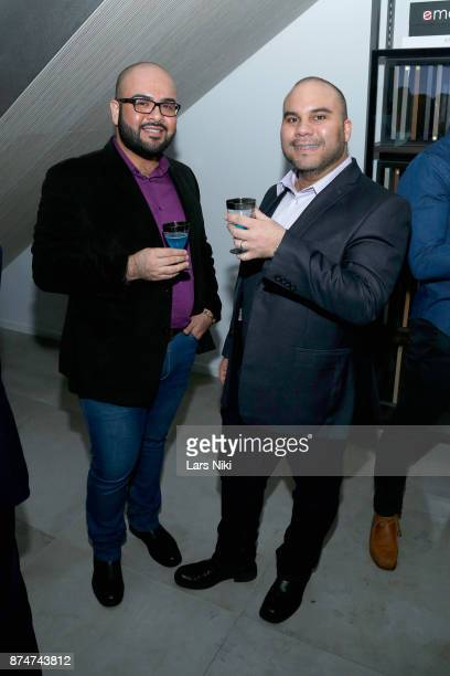 Adriano Encina and Emmanuel Bobadilla attend the Blu Perfer Blue Brut Launch Party for The 2018 8th annual Better World Awards on November 15 2017 in...