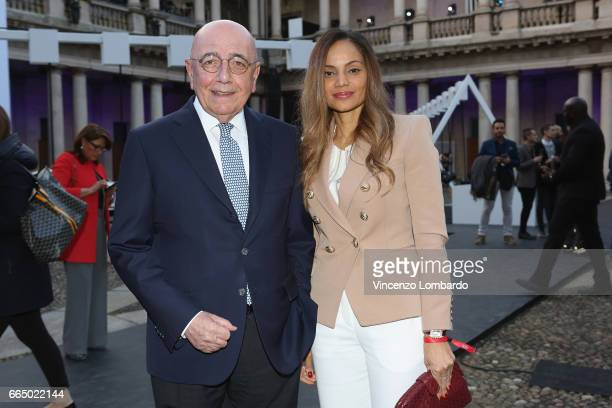 Adriano Galliani and Helga Costa attend Audi City Lab on April 5, 2017 in Milan, Italy.