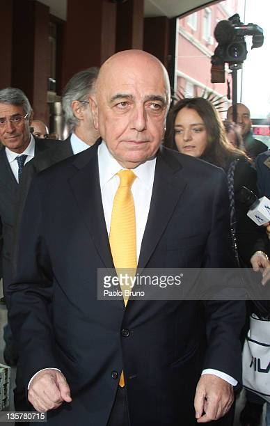Adriano Galliani President of AC Milan reacts after a Tavolo Della Pace Meeting on December 14 2011 in Rome Italy