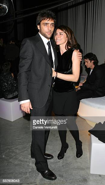 Adriano Giannini and Marie Kunkla during Loris Cecchini Exhibition Fendi Party at Palais de Tokyo in Paris France