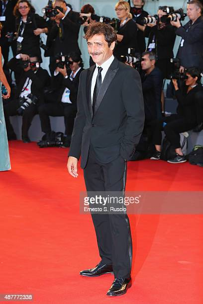 Adriano Giannini attends a premiere for 'Per Amor Vostro' during the 72nd Venice Film Festival at Sala Grande on September 11 2015 in Venice Italy