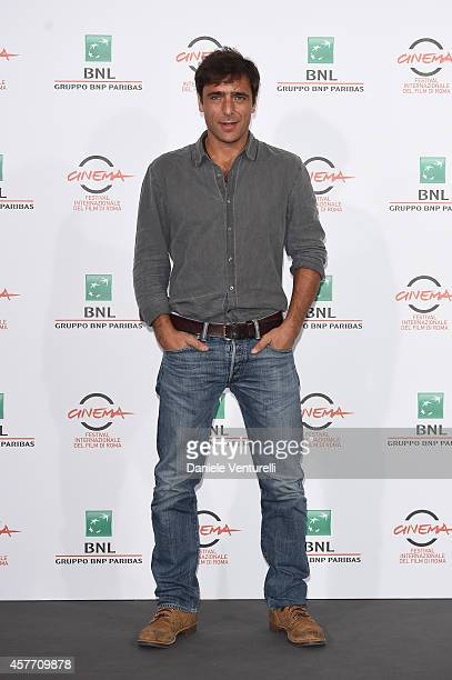 Adriano Giannini attends 'La Foresta Di Ghiaccio' Photocall during the 9th Rome Film Festival at Auditorium Parco Della Musica on October 23 2014 in...