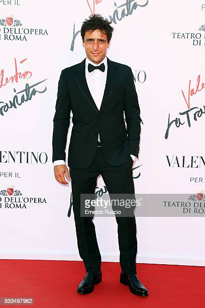 Adriano Giannini attends the 'La Traviata' Premiere at Teatro Dell'Opera on May 22 2016 in Rome Italy