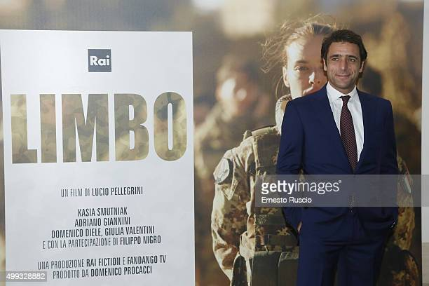 Adriano Giannini attends the premiere of 'Limbo' Tv Movie at Ara Pacis on November 30 2015 in Rome Italy