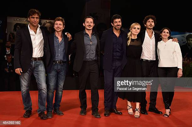 Adriano Giannini Claudio Gioe Michele Alhaique Pierfrancesco Favino Greta Scarano Alexandra Rossi and guest attend 'The Humbling' premiere during the...