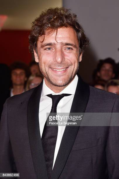 Adriano Giannini walks the red carpet ahead of the 'Emma ' screening during the 74th Venice Film Festival at Sala Grande on September 7 2017 in...