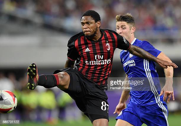 Adriano Luiz of AC Milan kicks the ball during the second half of the International Champions Cup match against Chelsea on August 3 2016 at US Bank...