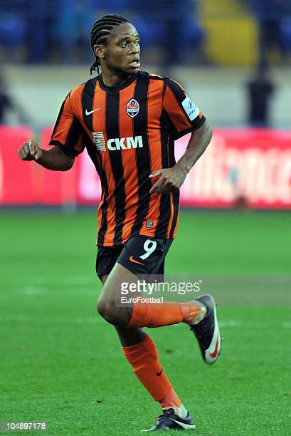 Adriano Luiz of Shakhtar Donetsk in action during the Russian Premier League match between Metalist Kharkiv and Shakhtar Donetsk at the Metalist...