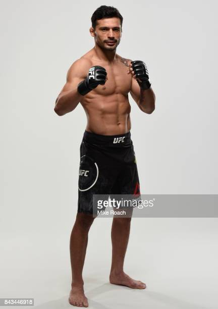 Adriano Martins of Brazil poses for a portrait during a UFC photo session on September 5 2017 in Edmonton Alberta Canada