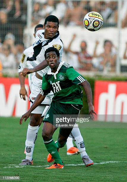Adriano Michael jackson Palmeiras in action during a match against Ponte Preta at Moises Lucareli stadium on April 17 in Campinas Brazil