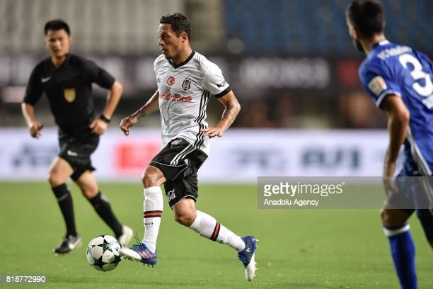 Adriano of Besiktas in action during the International Champions Cup match between Schalke 04 and Besiktas at Zhuhai Sports Centre Stadium in Zhuhai...