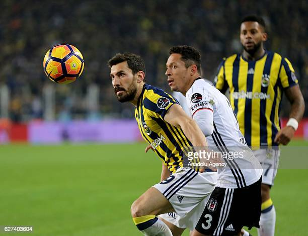 Adriano of Besiktas in action during the Turkish Spor Toto Super Lig match between Fenerbahce and Besiktas at Ulker Stadium in Istanbul Turkey on...
