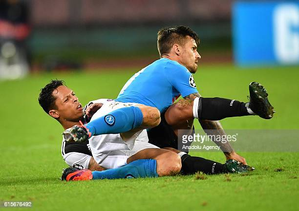 Adriano of Besiktas in action during the UEFA Champions League group B soccer match between Napoli and Besiktas at the San Paolo stadium in Naples...