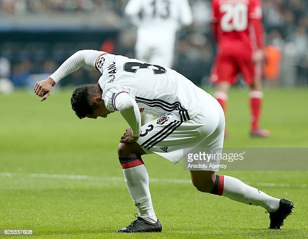 Adriano of Besiktas reacts after Benfica scored a goal during the UEFA Champions League Group B match between Besiktas and SL Benfica at Vodafone...