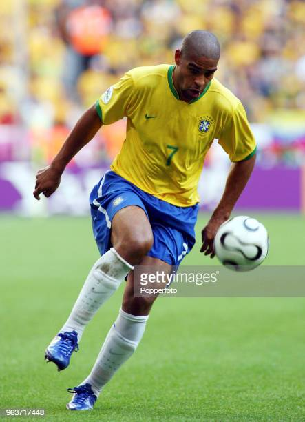Adriano of Brazil in action during the FIFA World Cup Group F match between Brazil and Australia at the FIFA WMStadion in Munich on June 18 2006...