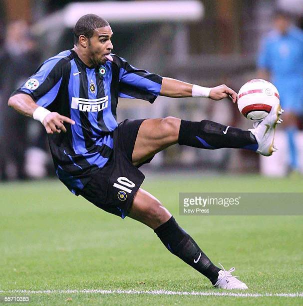 Adriano of Inter in action during the Serie A match between Internazionale and Lecce at the Giuseppe Meazza San Siro on September 17 2005 in Milan...