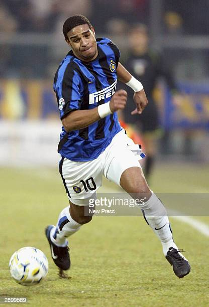 Adriano of Inter in action during the Serie A match between Modena and Inter Milan played at the Alberto Braglia Stadium January 25 2004 in Modena...
