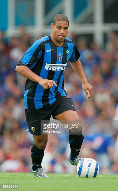 Adriano of Inter MIlan in action during the preseason friendly between Portsmouth and Internazionale on July 31 2005 at Fratton Park in Portsmouth...