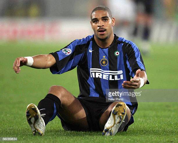 Adriano of Inter Milan in action during the Serie A match between SS Lazio and Inter Milan at the Stadio Olimpico on November 5 2005 in Rome Italy