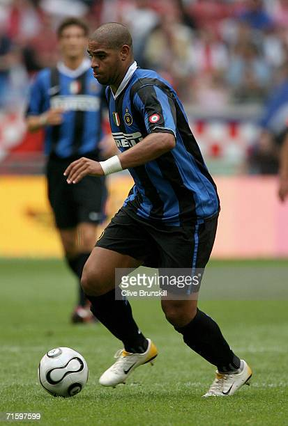 Adriano of Internazionale in action during the LG Amsterdam Tournament friendly match between FC Porto and Internazionale at The Amsterdam Arena on...