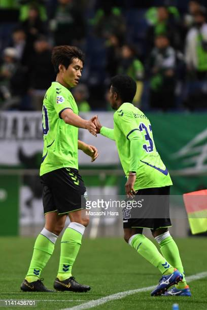 Adriano of Jeonbuk Hyundai Motors is replaced to Lee Donggook during the AFC Champions League Group G match between Urawa Red Diamonds and Jeonbuk...