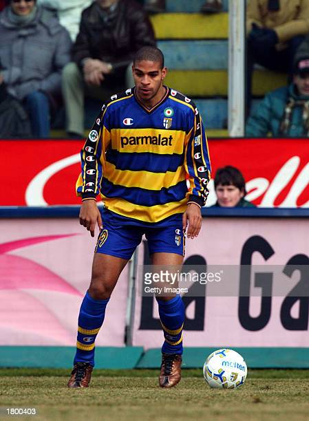 Adriano of Parma in action during the Serie A match between Parma and Juventus played at the Ennio Tardini Stadium Parma Italy on February 16 2003