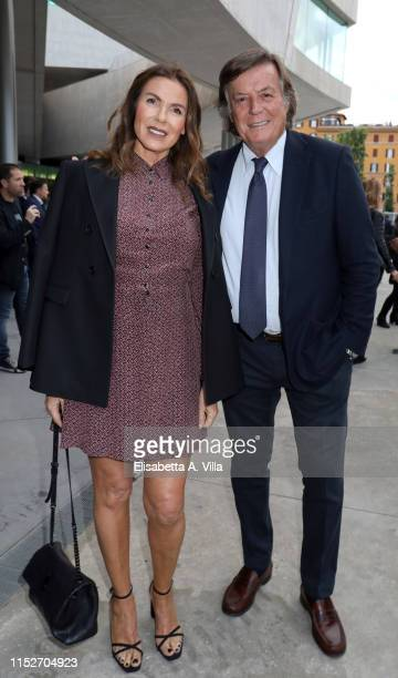 Adriano Panatta and wife Rosaria Panatta attend the Nastri D'Argento 2019 nominees presentation at Maxxi Museum on May 30 2019 in Rome Italy