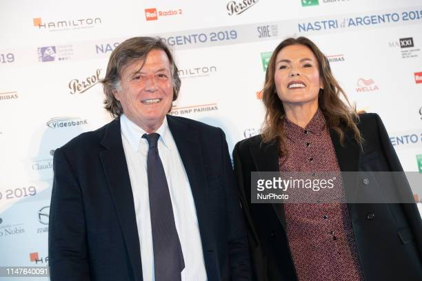 Adriano Panatta and Anna Bonamigo attend the photocall ahead of the Nastri D'Argento 2019 nominees presentation at Maxxi Museum on May 30 2019 in...