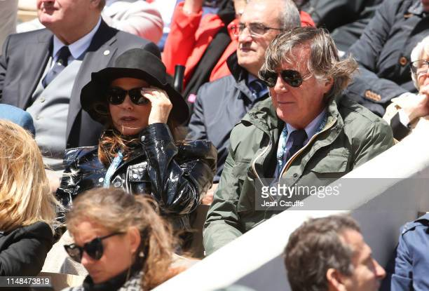 Adriano Panatta and his wife Rosaria Panatta attend the semifinal between Rafael Nadal of Spain and Roger Federer of Switzerland during day 13 of the...