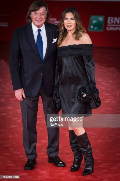 Adriano Panatta and Rosaria Panatta walk a red carpet for 'Borg McEnroe' during the 12th Rome Film Fest at Auditorium Parco Della Musica on November...