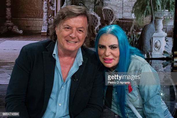 Adriano Panatta and Loredana Berte attends 'Che Tempo Che Fa' tv show on May 6 2018 in Milan Italy