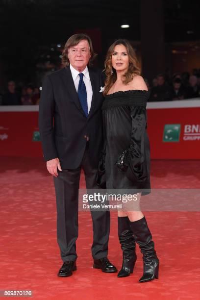 Adriano Panatta and Rosaria Panatta walk a red carpet for 'Borg McEnroe' during the 12th Rome Film Fest at Auditorium Parco Della Musica on November...