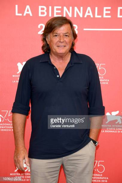Adriano Panatta attends ''The Armadillo's Prophecy ' photocall during the 75th Venice Film Festival at Sala Casino on September 3 2018 in Venice Italy