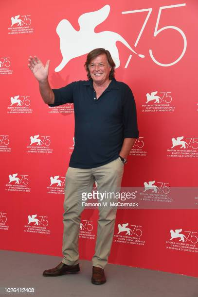 Adriano Panatta attends 'The Armadillo's Prophecy ' photocall during the 75th Venice Film Festival at Sala Casino on September 3 2018 in Venice Italy