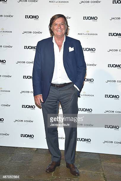 Adriano Panatta attends the 'Being The Protagonist' Party hosted By L'Uomo Vogue during the 72nd Venice Film Festival at San Clemente Palace Hotel on...