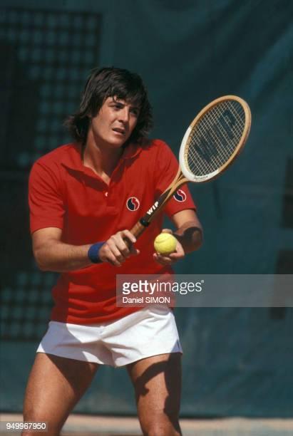 Adriano Panatta aux Internationaux de France de tennis à RolandGarros en juin 1978 à Paris France